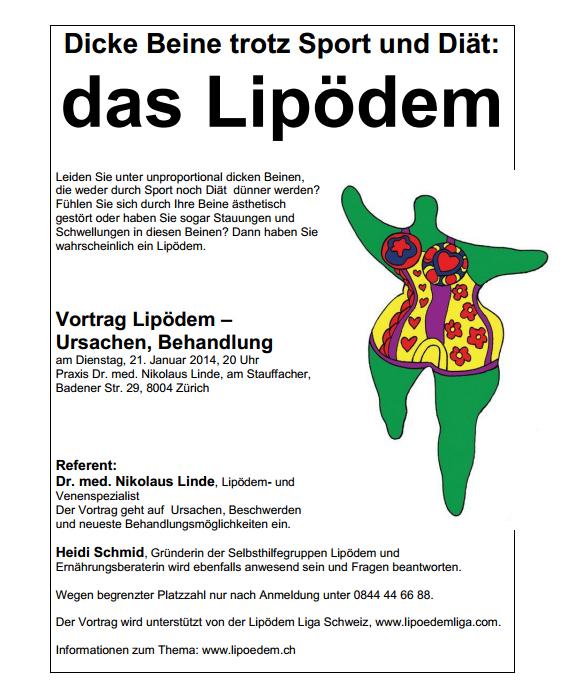 Vortrag Lipödem – Ursachen, Behandlung